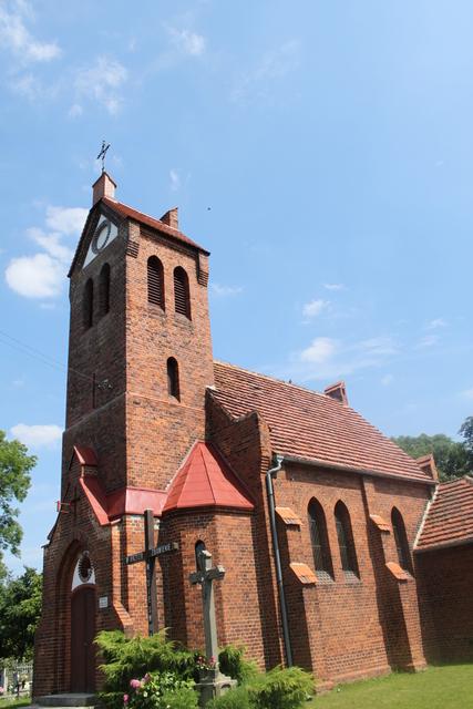 Woskowice Górne - Kościół filialny p.w. św. Jadwigi, murowany, styl pseudogotycki, 1896-97 r.1.jpeg
