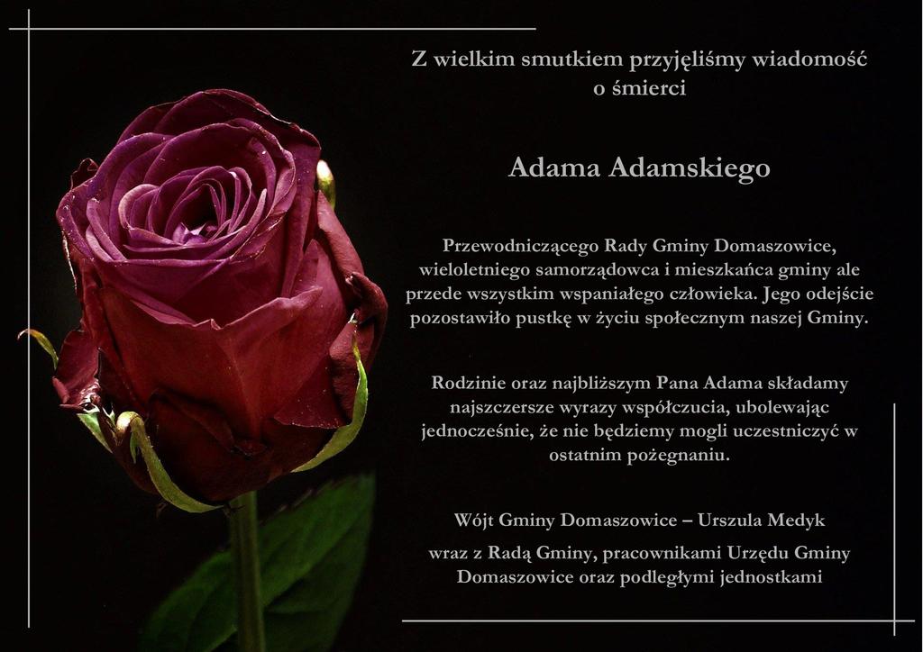 Kondolencje z powodu śmierci Adama Adamskiego.jpeg